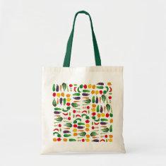 Eat Your Veggies Multi-Vegetable Budget Tote Bag