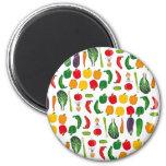 Eat Your Veggies Multi-Vegetable Round Magnet