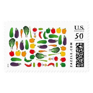 Eat Your Veggies Multi-Vegetable US Postage Stamp
