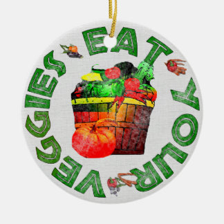 Eat Your Veggies Christmas Tree Ornaments