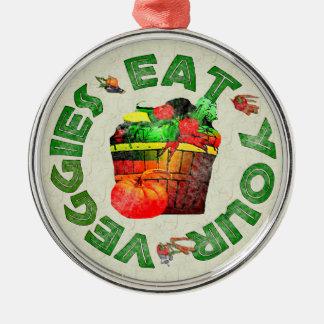 Eat Your Veggies Christmas Ornaments