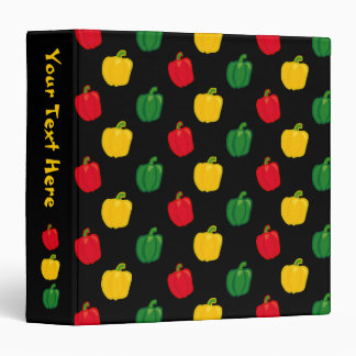 Eat Your Veggies Peppers Pattern Binder