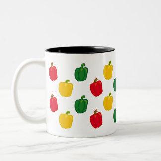 Eat Your Veggies Peppers Pattern Coffee Mug