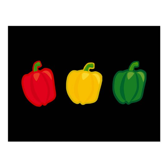 Eat Your Veggies Peppers Postcard