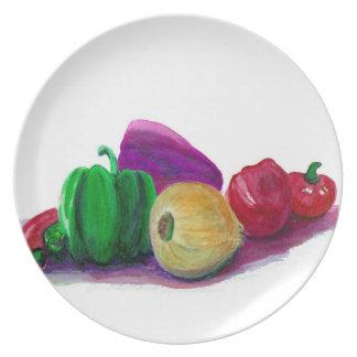 Eat Your Veggies Plate  from Original Watercolor
