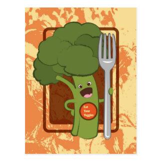 Eat your veggies! post card