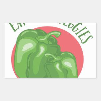 Eat Your Veggies Rectangular Sticker