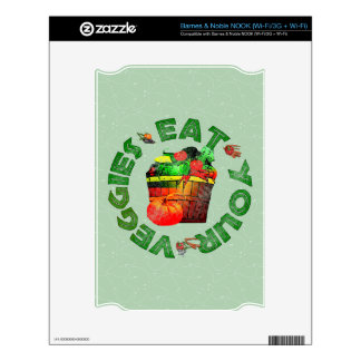 Eat Your Veggies Skins For NOOK