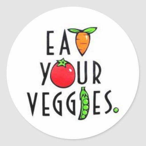 Eat Your Veggies Stickers