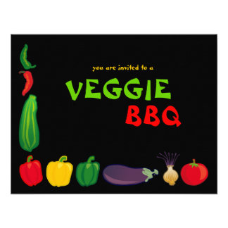 Eat Your Veggies Veggie BBQ Invite 1