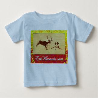 EatAnimals.com Autumn Logo on Infant Tee