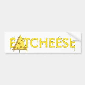 eatcheese car bumper sticker