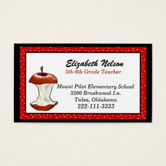 Eaten Apple Teacher's business card
