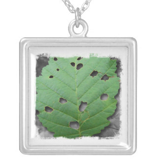Eaten by Bugs; No Text Silver Plated Necklace