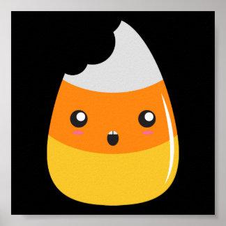 Eaten Emoji Candy Corn Poster