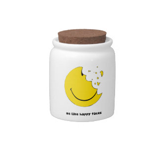 eaten happy face jar candy dishes