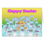 eater bunny Happy Easter Greeting Card