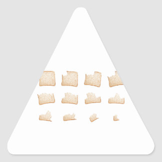 Eating a slice of wholemeal bread triangle sticker
