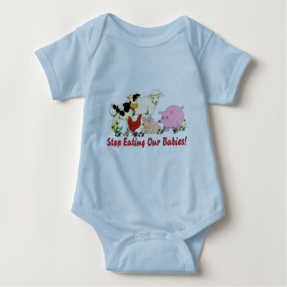 Eating Animal Babies Baby Bodysuit
