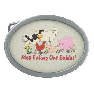 Eating Animal Babies Belt Buckle
