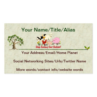 Eating Animal Babies Double-Sided Standard Business Cards (Pack Of 100)