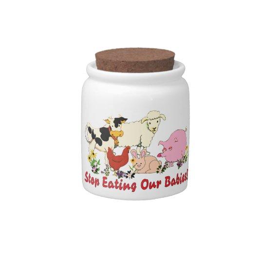 Eating Animal Babies Candy Jar