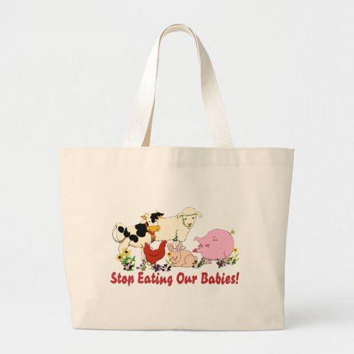 Eating Animal Babies Jumbo Tote Bag