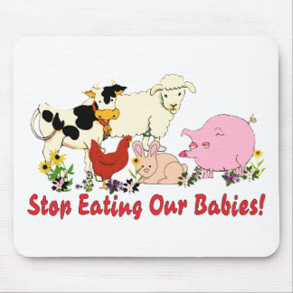 Eating Animal Babies Mouse Pad