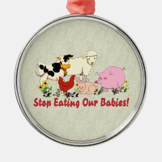 Eating Animal Babies Christmas Ornament
