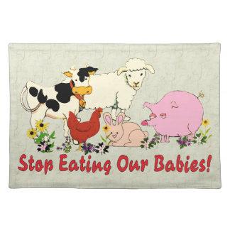 Eating Animal Babies Placemat