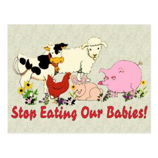 Eating Animal Babies Postcard