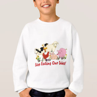 Eating Animal Babies Sweatshirt