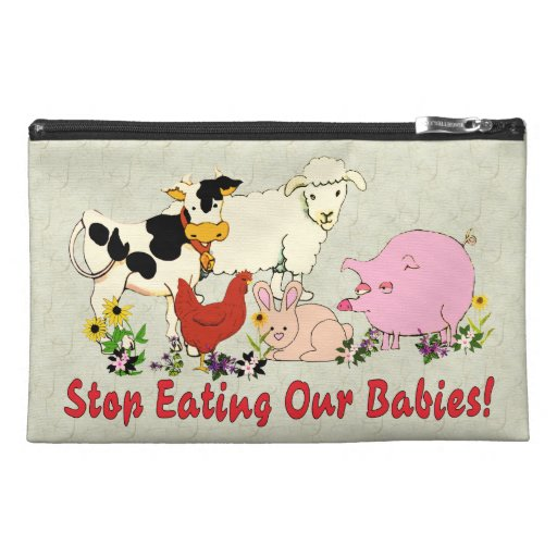 Eating Animal Babies Travel Accessory Bag