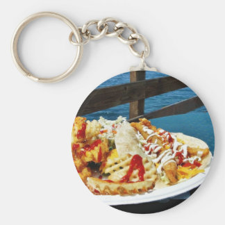 Eating At Imperial Beach Basic Round Button Keychain