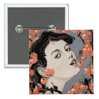 Eating Cherries - Art Nouveau - Jugend 1896 Pins