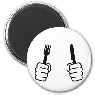Eating - cutlery magnet