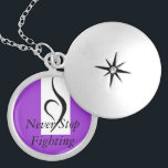 """Eating Disorder Recovery Silver Plated Necklace<br><div class=""""desc"""">never give up,  youre worth it</div>"""