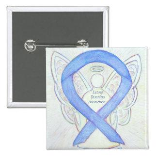 Eating Disorders Awareness Ribbon Angel Custom Pin