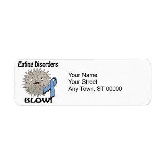 Eating Disorders Blow Awareness Design Label