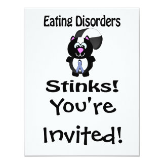 Eating Disorders Stinks Skunk Awareness Design Card
