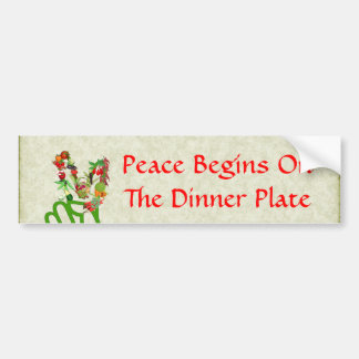 Eating For Peace Bumper Sticker