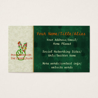 Eating For Peace Business Card