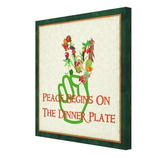 Eating For Peace Stretched Canvas Prints