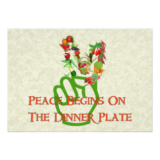 Eating For Peace Personalized Invitations