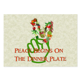 Eating For Peace Large Business Card