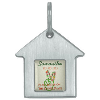 Eating For Peace Pet ID Tag