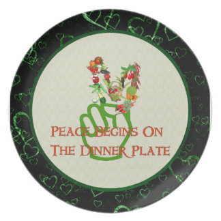 Eating For Peace Party Plate