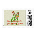 Eating For Peace Postage Stamps
