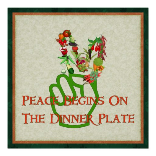 Eating For Peace Posters