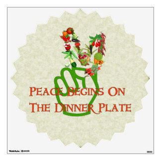 Eating For Peace Wall Sticker